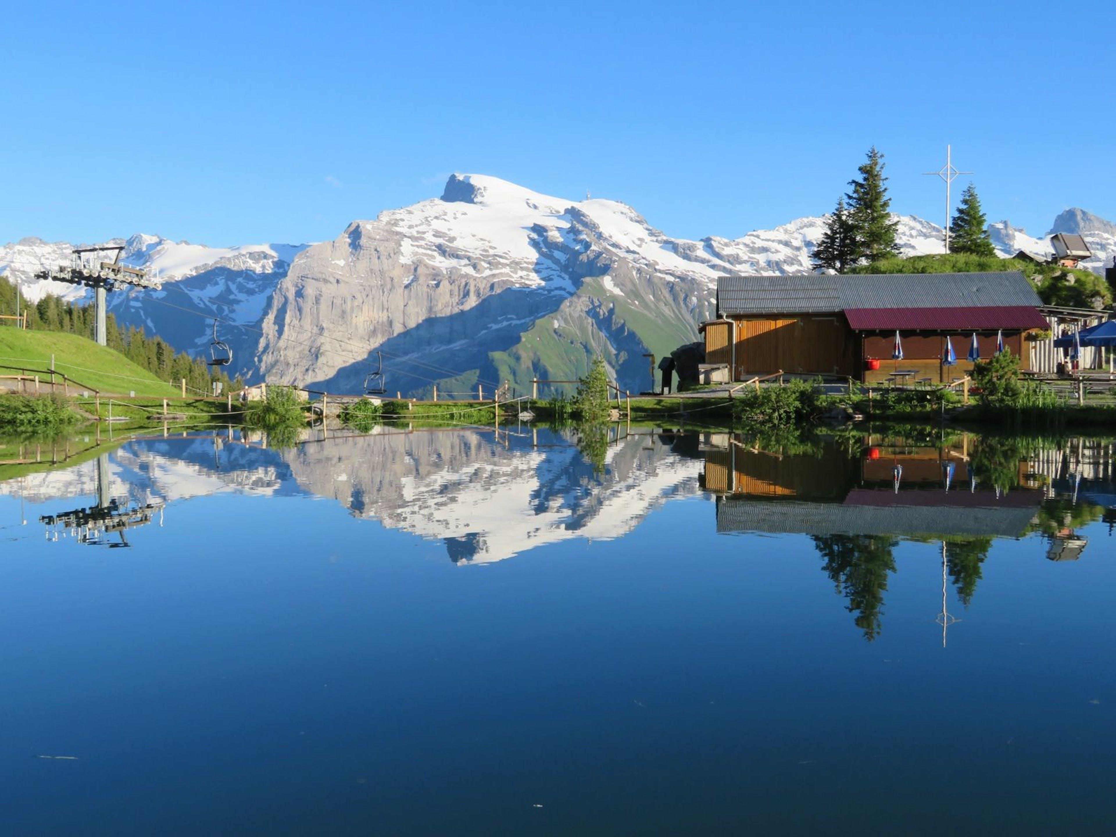 Lac Härzli à Brunni