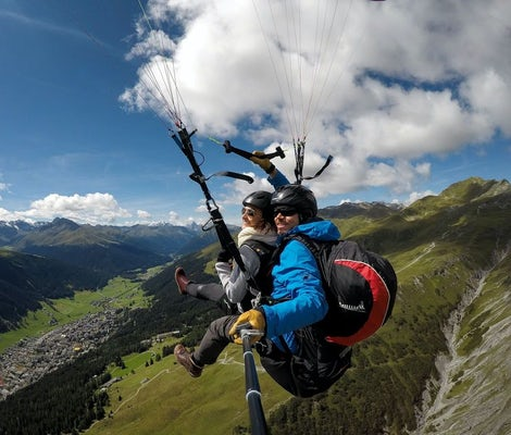 Paragliding Klosters for two