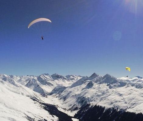 Gleitschirmfliegen Fondue Davos