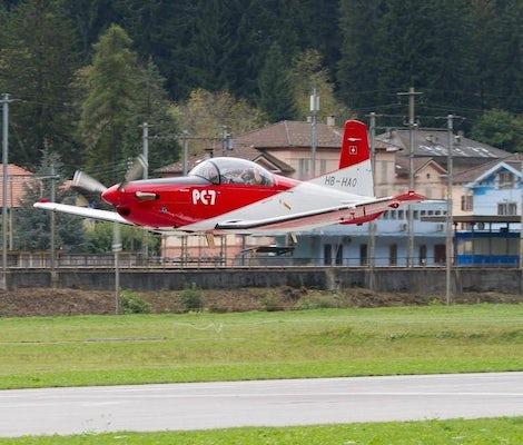 Pilatus PC7 takeoff