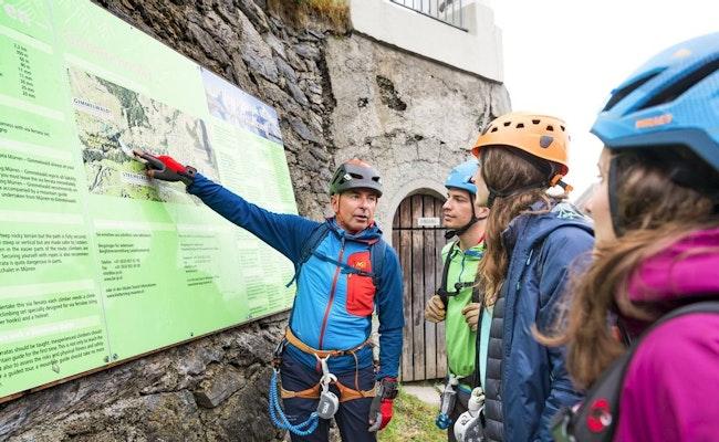 Klettersteig Mürren   Kletterspass hoch über dem Lauterbrunnental