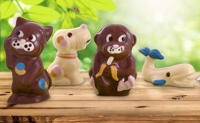 Giesskurs Maestrani's Chocolarium | Bunte Schokoladen Figuren in Flawil