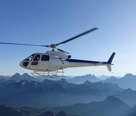 Helicopter tour of the Alps