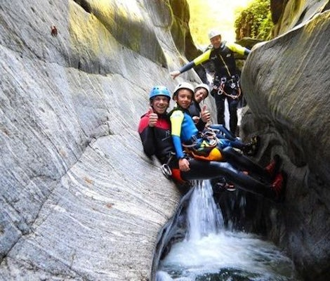 Canyoning Ticino family or group