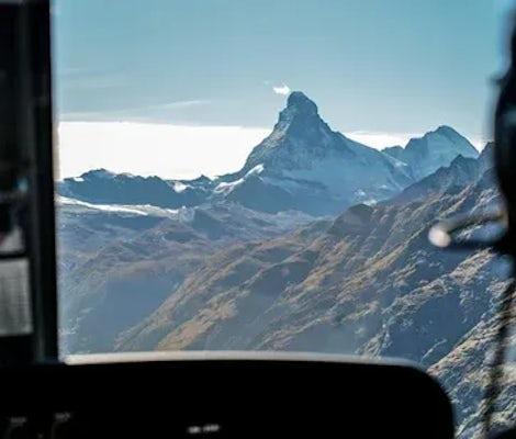 Helicopter sightseeing flight Matterhorn